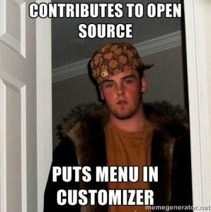 wordpress meme menu customizer
